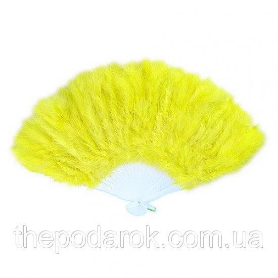Веер перо  Желтый