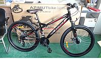 """Гірський велосипед Azimut Hiland 26"""". Дискові гальма. Чорний"""