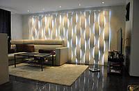 3Д/3D гипсовые LED панели  ВОЛНА