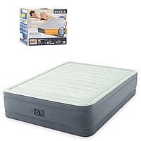 Двуспальная надувная кровать intex с электронасосом