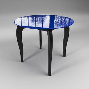 Стол обеденный стеклянный Император Круг Сине-черный (Sentenzo TM), фото 2