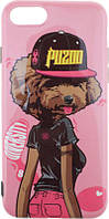 Чехол-накладка PUZOO TPU Glossy Surface IMD Hip Hop iPhone 7/8 DJ Teddy Pink, фото 1