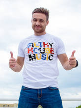 Мужская футболка Musik белый (S-XL)