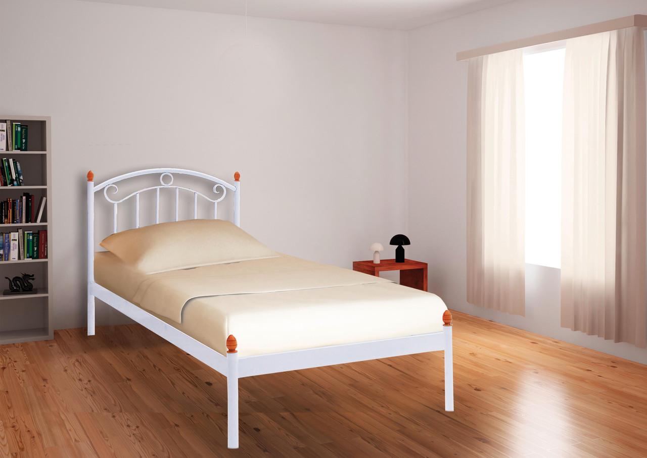 Кровать Монро Мини белая 90*190 (Металл дизайн)