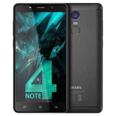 """Смартфон Uhans Note 4 3/32Gb Black, 13/5Мп, 5.5""""  IPS, 4000mAh, 2sim,  MT6737, 4 ядра, 4G (LTE)"""