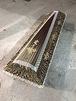 Гроб - драпировка атлас (горчица) сайт:  Orfey1.com