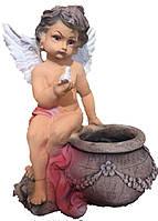 Статуэтка с кашпо Ангел с птичкой 34 см