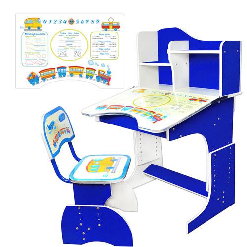Парта детская регулируемая с надстройкой и стульчиком HB 2071-01-7