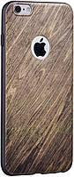 Чехол-накладка HOCO Wood grain Element Series iPhone 6/6s Birch