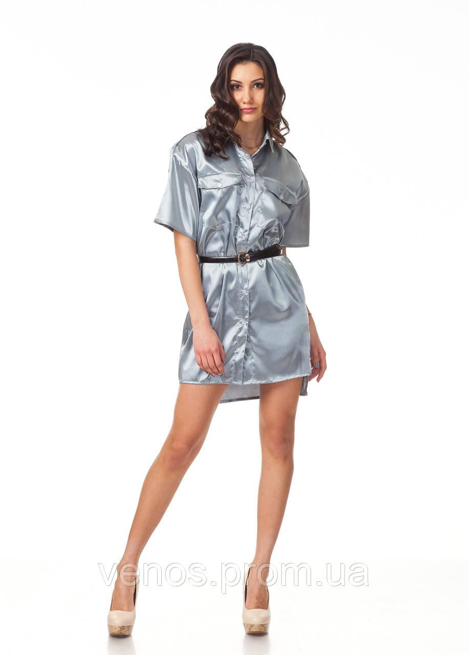 Шелковое платье рубашка  П112