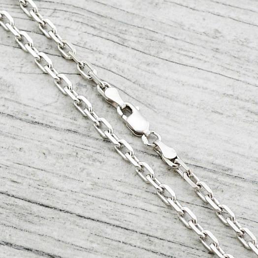 "Серебряная цепочка ""Якорная"", ширина 3 мм, длина 60 см, вес 14.48 г"