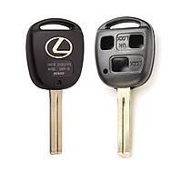 Заготовка корпус ключа LEXUS (Лексус) RX, GX, LX, IS, GS, ES, LS, SC - 3 кнопки, лезвие TOY48, фото 1