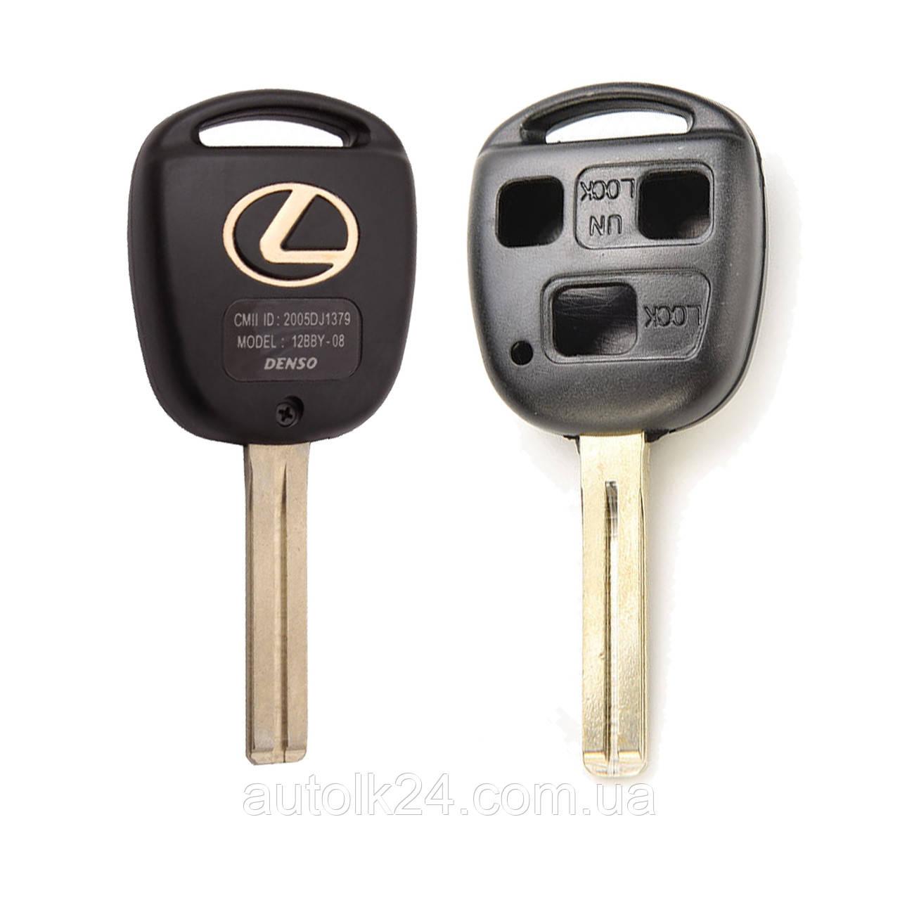 Заготовка корпус ключа LEXUS (Лексус) RX, GX, LX, IS, GS, ES, LS, SC - 3 кнопки, лезвие TOY48