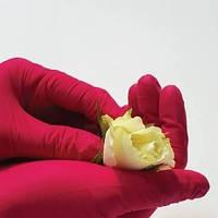 Перчатки нитриловые неопудренные красные M 100шт