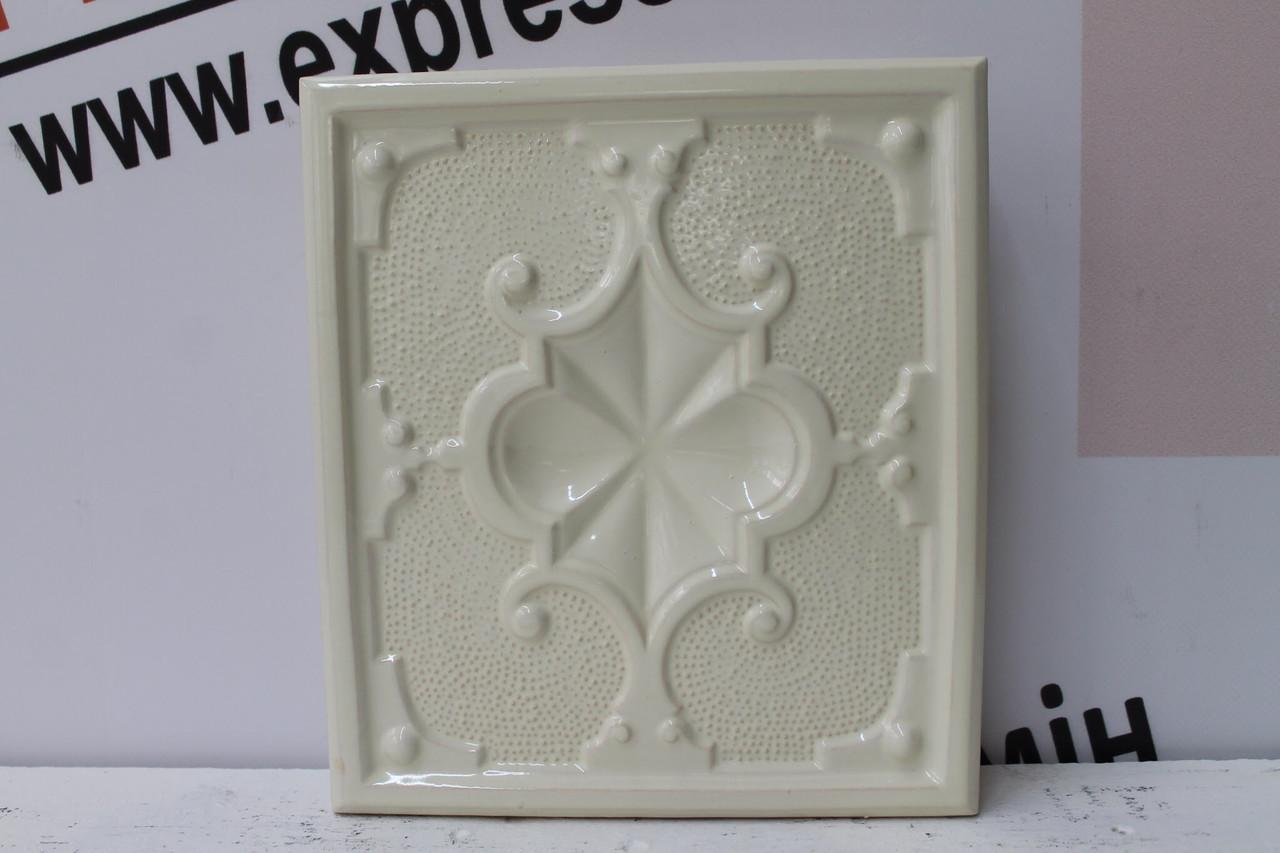 Изразцовая плитка «ПИКА» слоновая кость