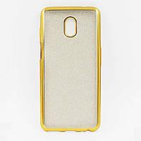 Чехол накладка для Meizu M6S силиконовый, Remax Case GLITTER, Золотистый