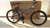 """Велосипед горный Azimut Shock 26"""". Дисковый тормоза. Серый, фото 1"""