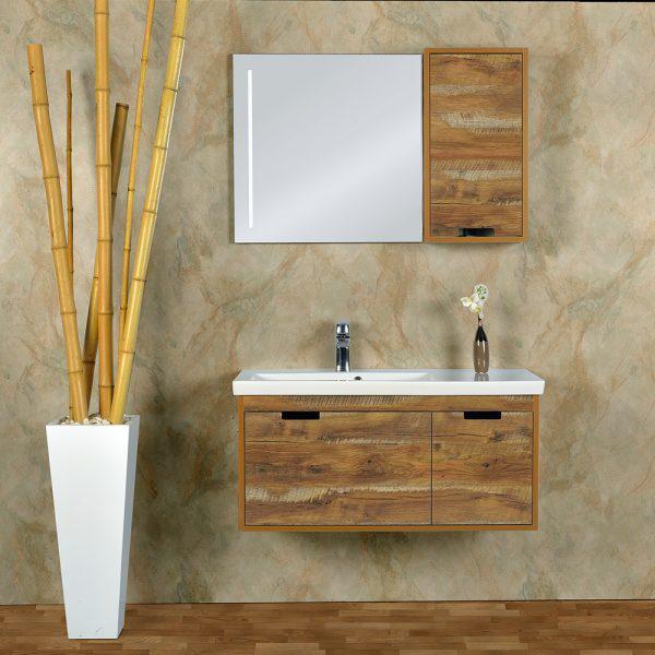 Зеркальный шкаф Gold Ban-Yom Legno 100 с подсветкой