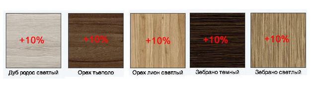 Цвета ДСП +10%