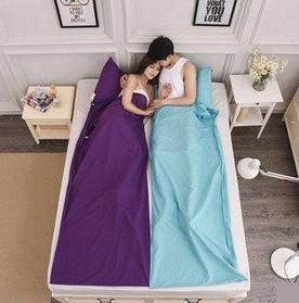 """Постельный комплект """"спальный мешок"""". Голубой"""