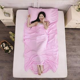 """Постельный комплект """"спальный мешок"""". Розовый"""