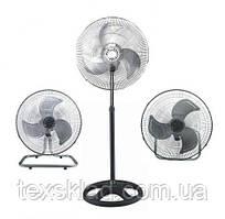 Вентилятор с металическими лопостями FS-4521 / 70W (3 скорости в разные стороны)
