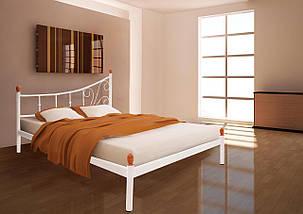 Кровать Калипсо белый бархат 140*200 (Металл дизайн), фото 2
