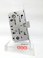 Замок межкомнатный AGB Mediana Evolution WC B01102.50.34 хром матовый