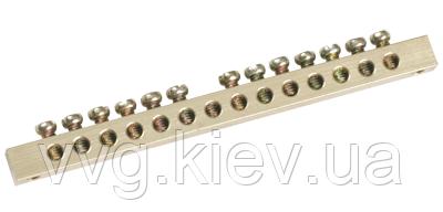 Шина PEN Земля-ноль 6х9 мм 6/1, 6 групп/крепление по центру IEK