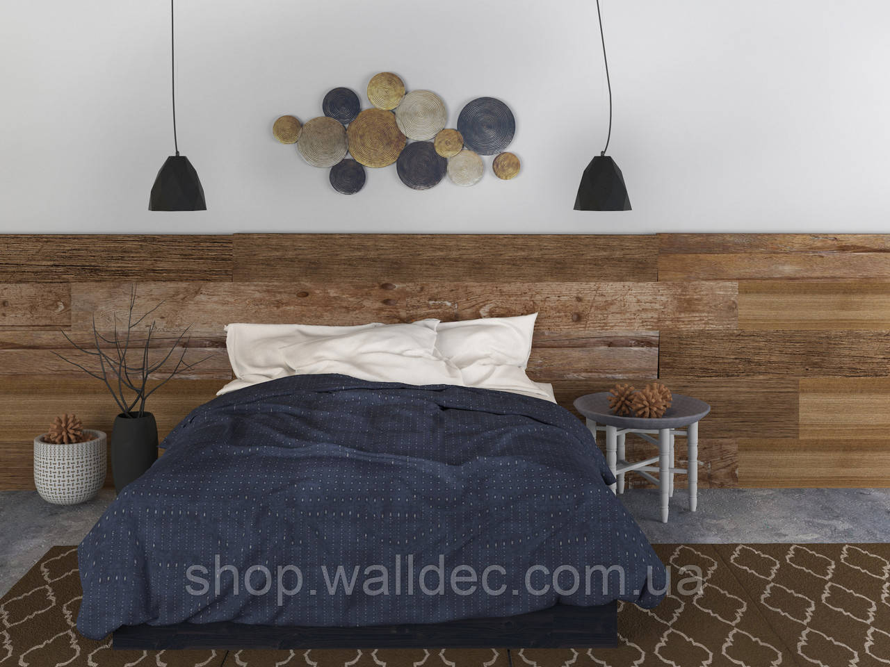 """Планка стеновая декорная из винтажного дерева """"True"""" v1."""