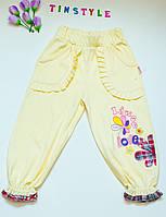 Трикотажные штанишки для девочки 4-6 лет