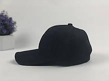 Кепка бейсболка Ediko черный с бордовой полосой, фото 3