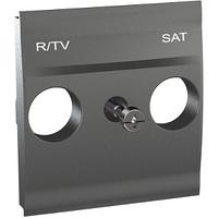 Панель для R-ТВ-SAT розетки Графит Unica Schneider, MGU9.441.12