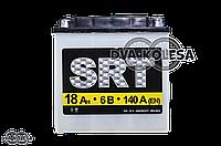 """АКБ  6V 18A  кислотный  140-85-140mm  круглая клема  """"SRT""""  УКРАИНА"""