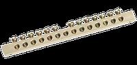 Шина PEN Земля-ноль 6х9 мм 10/2, 10 группы/крепление по краям IEK