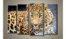 "Модульная картина на холсте ""Леопард"" (HAF-020)"