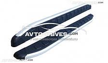 Подножки боковые для Мазда BT-50 (стиль Порш Каен)