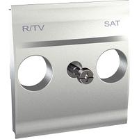Панель для R-ТВ-SAT розетки Алюминий Unica Schneider, MGU9.441.30