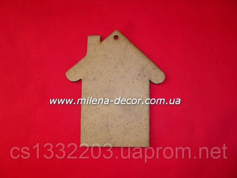 Новогодняя подвеска - домик (мдф) 12*10см