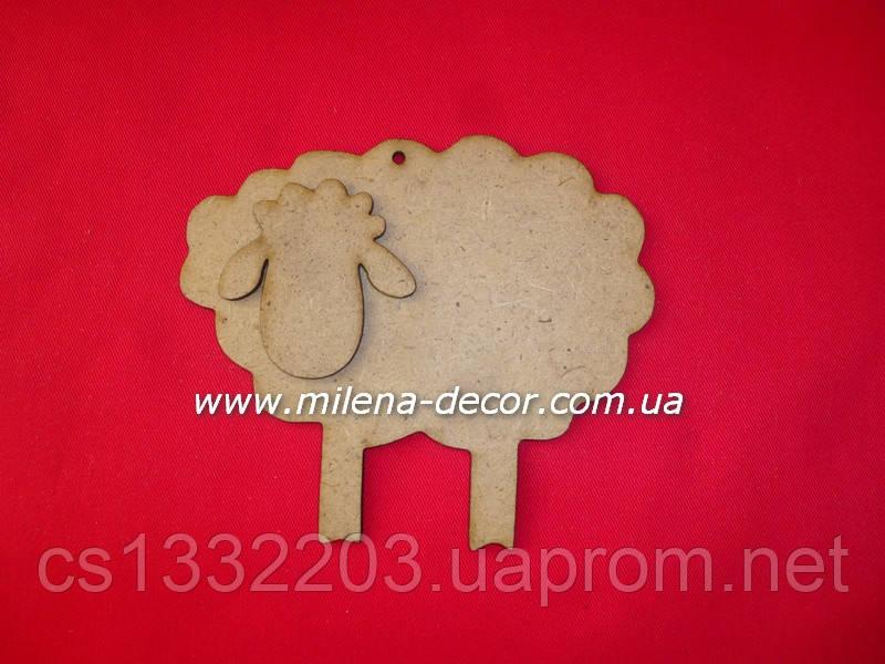 Новогодняя подвеска - овечка (мдф) 12.5*11см
