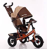 Велосипед детский трехколесный, надувные колеса+фара Бест Трайк 6588B, Best Trike
