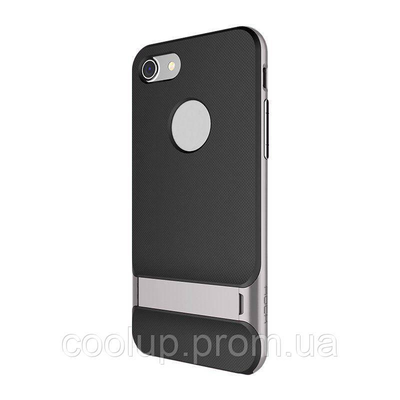 Чехол-накладка Rock TPU+PC Case Royce Series with Kickstand iPhone 7 Grey, фото 1