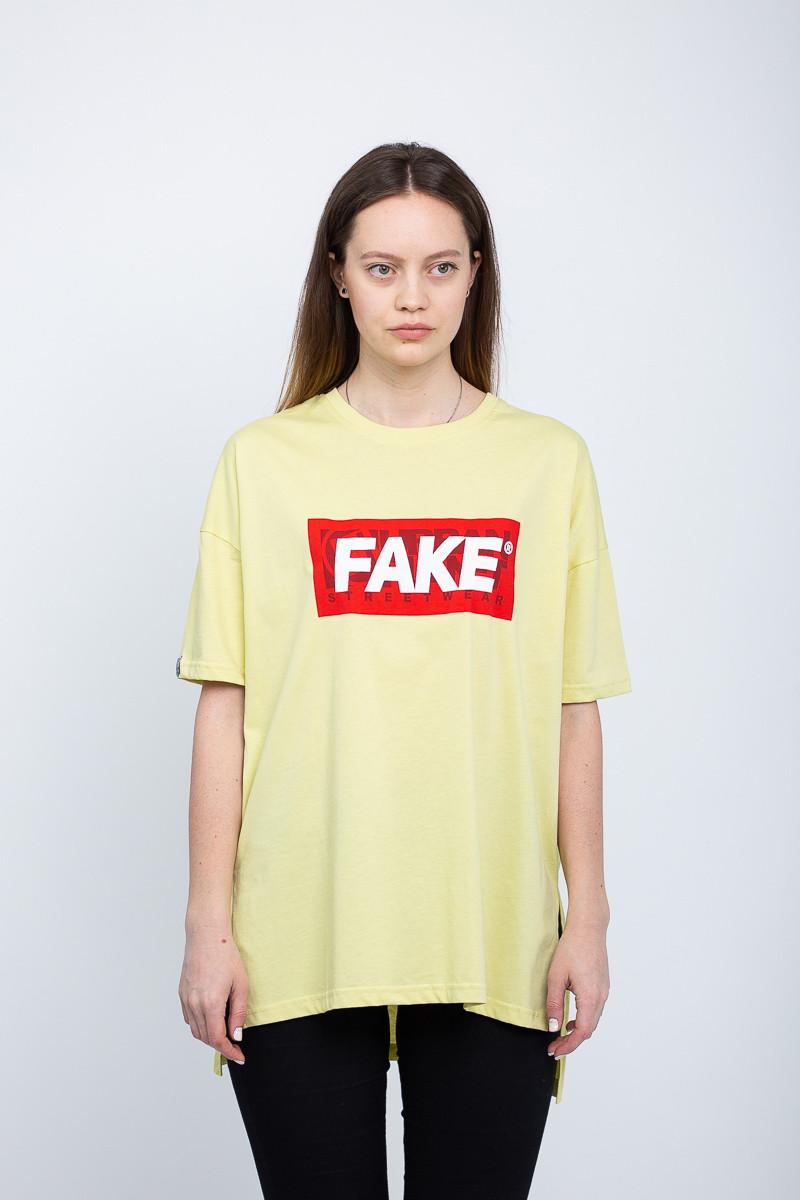 0a69b7714746e Женская футболка (оверсайз) Urban Planet - Fake lime T - Интернет-магазин