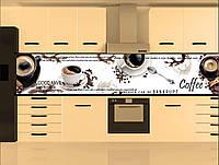 Стеклянный фартук для кухни - скинали Кофе Еда
