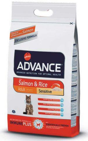 Advance Cat Sensitive SALMON - корм для кошек с чувствительным пищеварением (лосось)