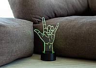 "3D светильник ""ILY"" 3DTOYSLAMP, фото 1"