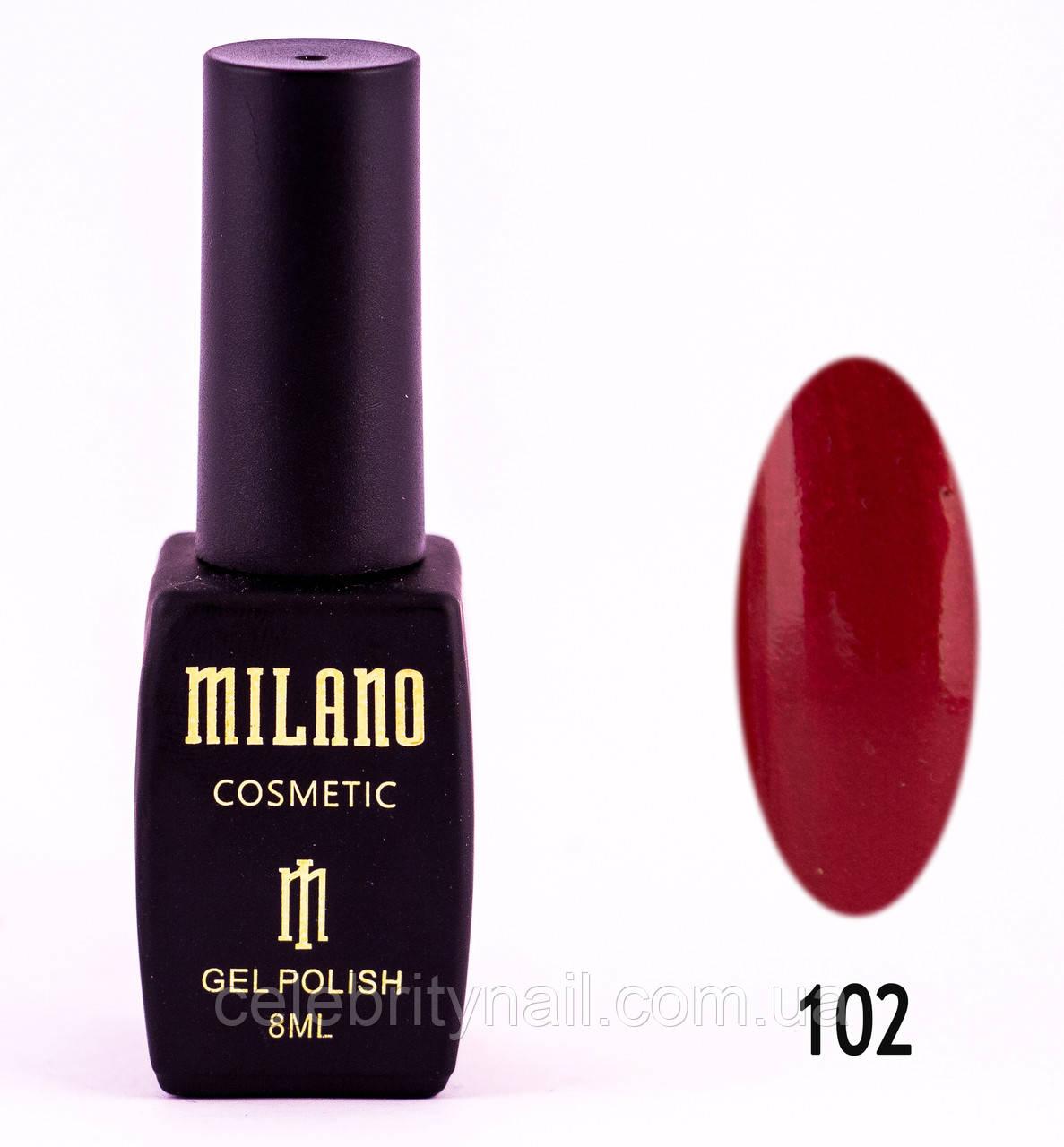 Гель лак Milano 102, 8 мл