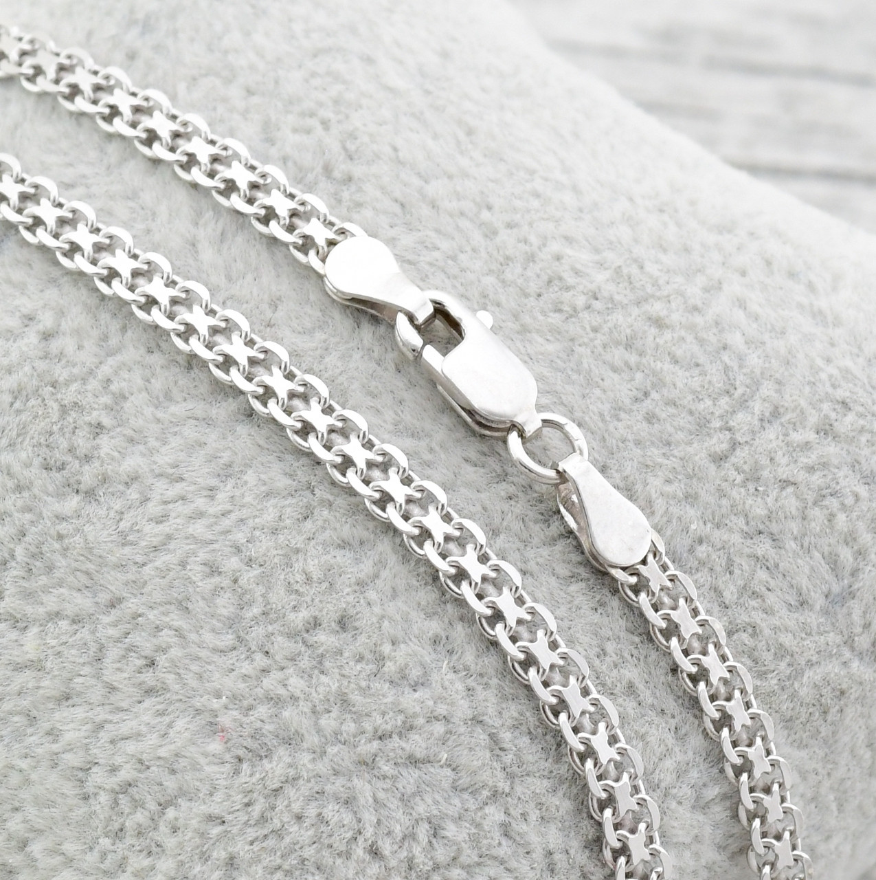 a56602998bb1 Серебряная цепочка родированная