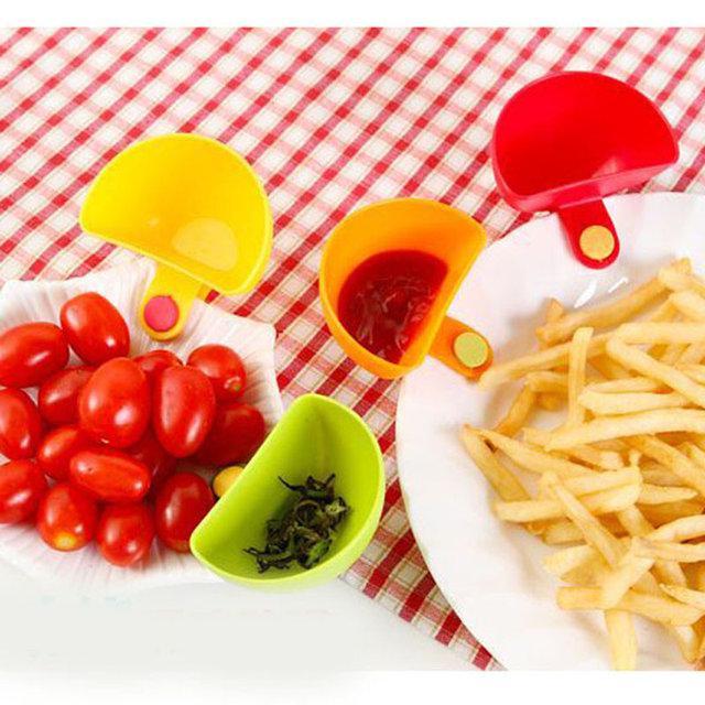 Соусница с клипсой на тарелку для соусов и кремов