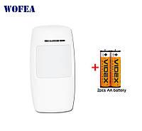 Датчик движения беспроводный S002 433Mhz (для GSM сигнализации) + батарейки